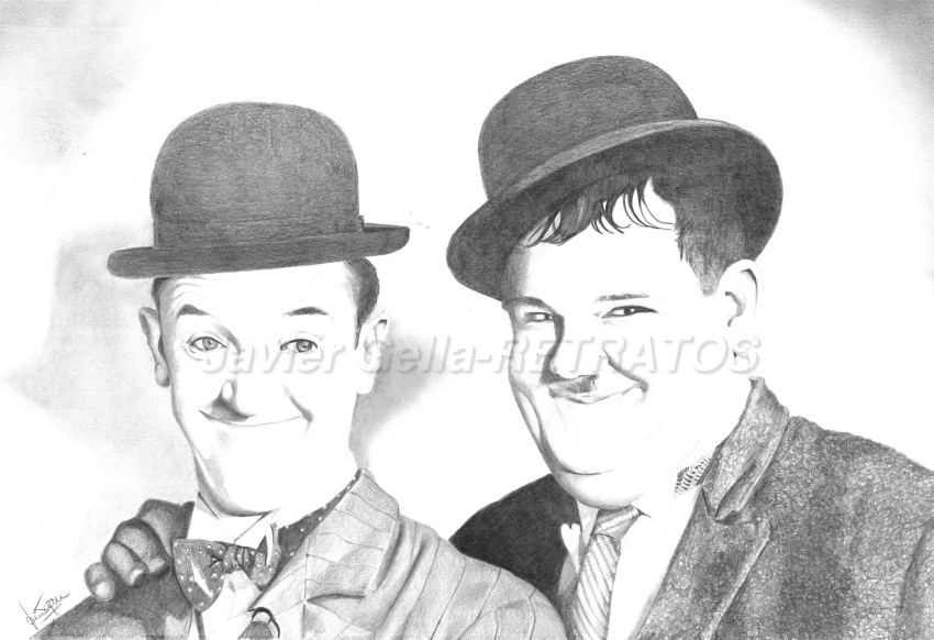 Oliver Hardy, Stan Laurel by JumpingJack